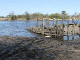 Boat wreckage at Old Pungo Ferry Road (Kayak Virginia Beach Images © Paul Perusse)